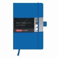 Bloc Notes A5 96 file dictando coperta din piele sintetica cu elastic, motiv My Book Classic albastru