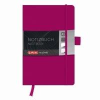 Bloc Notes A5 96 file dictando coperta din piele sintetica cu elastic, motiv My Book Classic mov