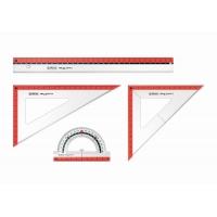 Set geometrie 4 piese My.Pen (rigla 30cm, echer 45/45/90 grade, 1 echer 30/60/90 grade, raportor 10cm) Herlitz