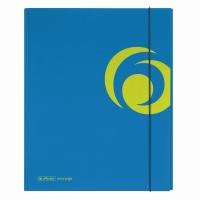Dosar mapa carton lucios A4 XL inchidere cu elastic, culoare albastru intens Herlitz