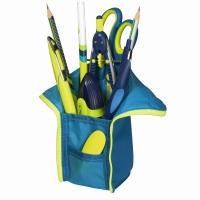 Necessaire/suport intrumente de scris, dimensiune 10,5x5,5x19,5cm albastru/lemon Herlitz