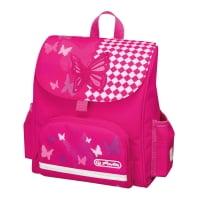 Ghiozdan ergonomic neechipat, dimensiune 26x24x14cm, motiv Mini Softbag Pink Butterfly Herlitz