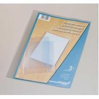 Coperta PP - 120 microni, pentru caiet A4, 3 buc/set, AURORA - transparent cristal