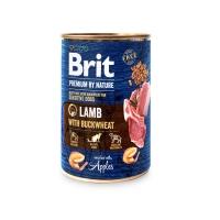 BRIT Premium By Nature, Miel cu Hrişcă, pachet economic conservă hrană umedă fără cereale câini, (pate), 400g x 6