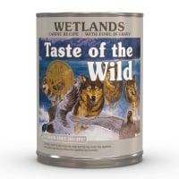 TASTE OF THE WILD Wetlands, Rață, conservă hrană umedă fără cereale câini, (în sos), 390g