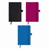 Bloc Notes A5 96 file matematica, coperta din piele sintetica cu elastic, motiv My Book Classic negru