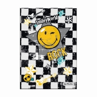 Caiet A5 96 file matematica coperta tare, motiv Smiley World Rock