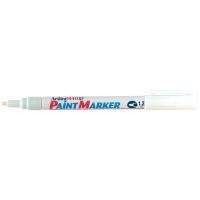 Marker cu vopsea varf rotund 1.2mm, corp metalic, ARTLINE 440XF - alb