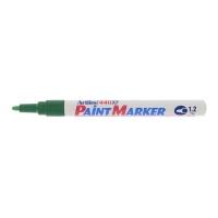 Marker cu vopsea varf rotund 1.2mm, corp metalic, ARTLINE 440XF - verde