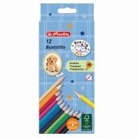 Creioane color triunghiular set 12 bucati motiv Pretty Pets Herlitz