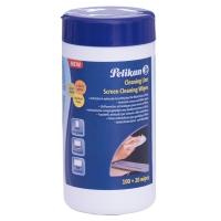 Servetele umede, pentru curatat ecran, set 120 bucati, Pelikan