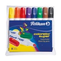 Carioci Colorella Super C411, set 8 culori, varf 3.0mm, Pelikan