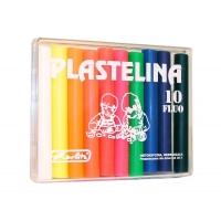 Plastilina Herlitz set 10 culori fluorescente Herlitz