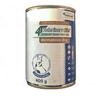 4T Veterinary Diet Dermatosis Dog Somon si Cartofi, 400 g