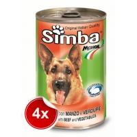 Pachet 4 Conserve Simba Dog cu Vita si Legume 1,230 g