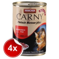 Pachet 4 Conserve Carny Adult Carne de Vita 400 g