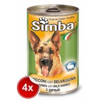 Pachet 4 Conserve Simba Dog  cu Vanat 1,230 g
