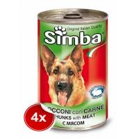 Pachet 4 Conserve Simba Dog cu Vitel 1,230 g