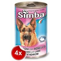 Pachet 4 Conserve Simba Dog cu Miel 1,230 g
