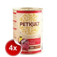 Pachet 4 Conserve Petkult Adult Dog Vita 800 g