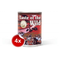 Pachet 4 Conserve Taste of the Wild Southwest Canyon 390 g