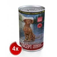 Pachet 4 Conserve Dog Concept Vita si Ficat 1240 g