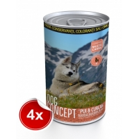 Pachet 4 Conserve Dog Concept Pui si Curcan 1240 g