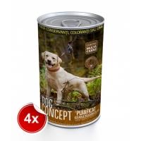 Pachet 4 Conserve Dog Concept Pui si Ficat 1240 g