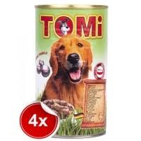 Pachet 4 Conserve Tomi Dog cu Miel 1200 g