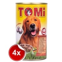 Pachet 4 Conserve Tomi Dog cu 3 Feluri Pasare 1200 g