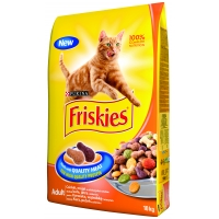 Friskies Cat Adult Pui si Legume, 10 Kg