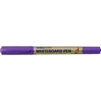 Marker pentru tabla de scris, doua capete - varfuri rotunde, subtiri, ARTLINE 541T - violet