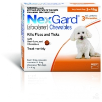 Nexgard S, 2-4 kg, 3 comprimate