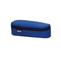 Necessaire oval dimensiune 21,5x9x6cm, culoare albastru