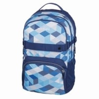 Rucsac Be.Bag ergonomic dimensiune 32x44x23cm, motiv Cube Blue Checked