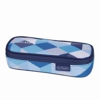 Necessaire Be.Bag Cube dimensiune 22,5x9,5x5cm, motiv Blue Checked