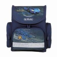 Ghiozdan ergonomic neechipat, dimensiune 32x34,5x19cm, motiv Mini Blue Racer
