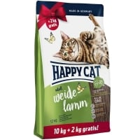 Happy Cat Supreme Adult, Miel de Ferma, 10 kg + 2 kg Gratis