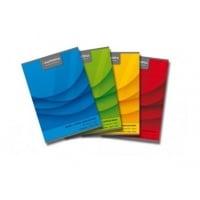 Caiet A4, 60 file - 70g/mp, liniat stanga, coperta carton color, AURORA Office - matematica