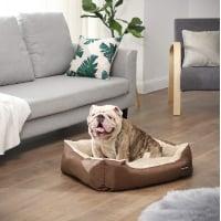 FEANDREA, pat câini și pisici, M, pernă detașabilă cu 2 fețe, maro, 70 x 55 x 21 cm