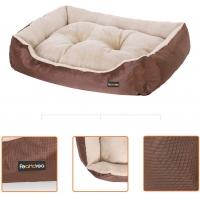 FEANDREA, pat câini și pisici, L, pernă detașabilă cu 2 fețe, maro, 85 x 65 x 21 cm
