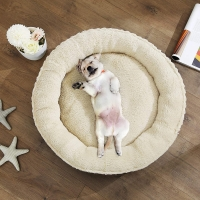 FEANDREA, pat câini și pisici, M, rotund, maro, 65 x 12 cm