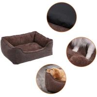 FEANDREA, pat câini și pisici, M, husă detașabilă, maro, 70 x 55 x 21 cm