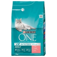 Purina ONE Cu Somon Si Cereale Integrale, 1.5 kg