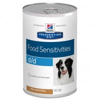 Hill's PD Canine d/d cu Miel si Orez, Alergii la Mancare, 370 g