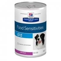 Hill's PD Canine d/d cu Rata, Alergii la Mancare, 370 g