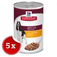 Pachet 5 Conserve Hill's SP Canine Adult cu Pui 370 g