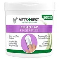 Vet's Best Ear Finger, Servetele pentru Igiena Urechii, 50 buc