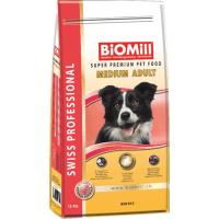 Biomill Swiss Professional Medium Adult cu Pui, 20 kg