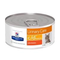 Hill's PD Feline c/d Multicare cu Pui - Prevenirea Recurentei Struvitilor, 156 g